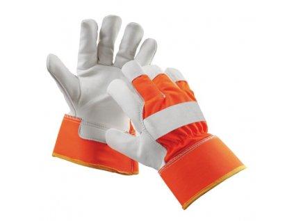 Kombinované reflexné pracovné rukavice CURLEW WINTER ORANGE