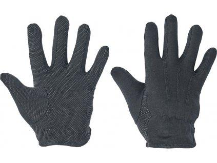 Bavlnené povrstvené rukavice BUSTARD BLACK