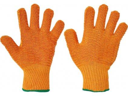Protišmykové bezšvové rukavice s povrstvením FALCON