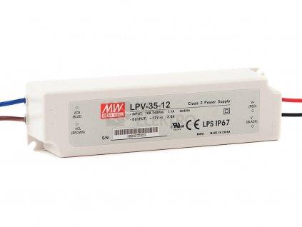 Napájací zdroj MEAN WELL pre LED 12V 35W LPV-35-12