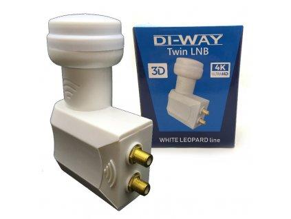 DI-WAY LNB TWIN 0,1dB, WHITE LEOPARD LINE