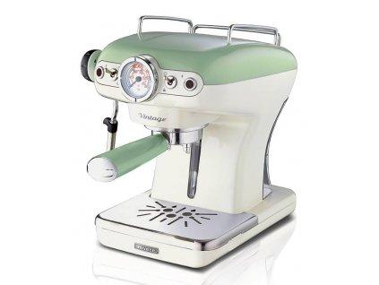 Ariete Vintage Espresso kávovar, zelený, 1389/14