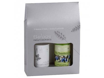 Dárkový balíček Saloos - Švestka / 100% Squalane.