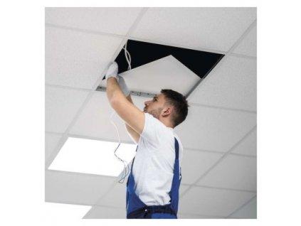 LED panel backlit 60×60, štvorcový vstavaný biely, 34W neutrálna b.