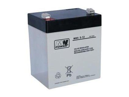 Batérie olovená 12V/5 Ah MWS Power AGM gélový akumulátor
