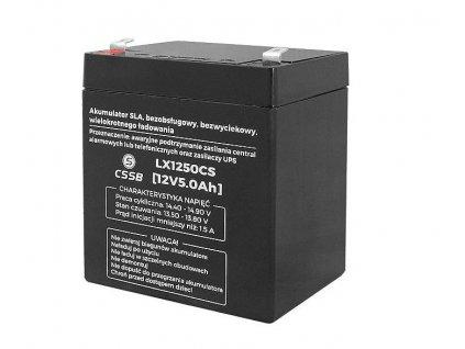 Batérie olovená 12V/5,0Ah LTC LX1250CS gélový akumulátor