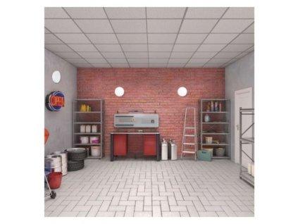 LED prisadené svietidlo TORI, kruhové biele 15W teplá b., IP54