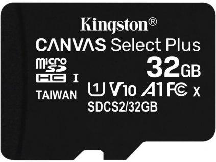 Kingston 32GB microSDHC Canvas Select Plus A1 CL10 100MB/s bez adaptéru