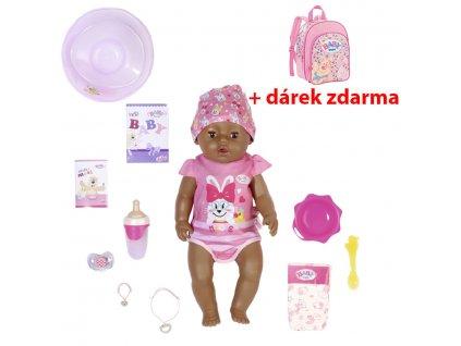 BABY born s kúzelným cumlíkom černoška 43 cm