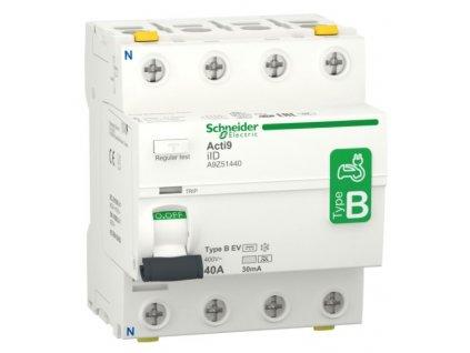 Proudový chránič iID, 4P, 40A, 30mA, typ B EV
