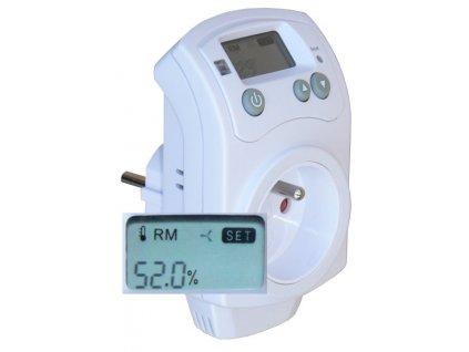 Zásuvkový hygrostat (vlhkoměr) pro ovládání odvlhčovačů nebo zvlhčovačů HH-810