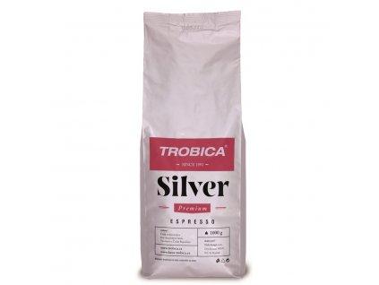 Trobica Silver zrnková káva 1000 g