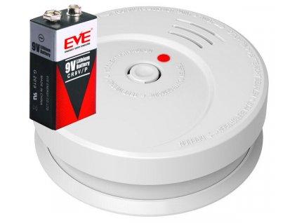 Požární hlásič a detektor kouře GS506 alarm EN14604, včetně baterie s životností 10let.