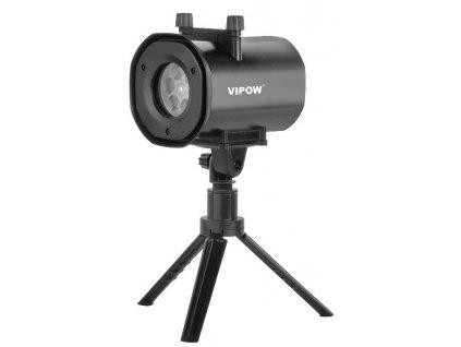 Laserový dekoratívne projektor s výmennými vzormi 4v1 VIPOW ZAR0442, IP44