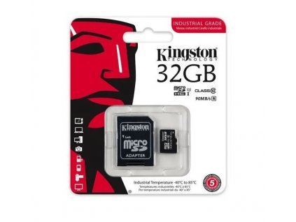 SDCIT/32GB Kingston memory card microSDHC Industrial (32GB   class 10   UHS-I   90 MB/s) + adapter