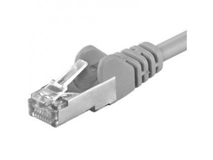 Premiumcord Patch kabel CAT6a S-FTP, RJ45-RJ45, AWG 26/7 30m, šedá
