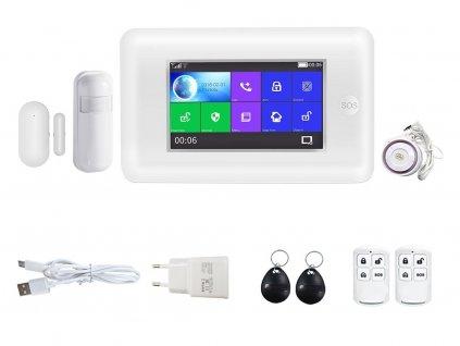 Bezdrátový domovní GSM alarm s Wi-Fi, GSM telefonem a SOS voláním HG-430-EN - TUYA.