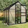 Multidom Hliníkový skleník s podkladovým rámom, antracitový 3,61 m²