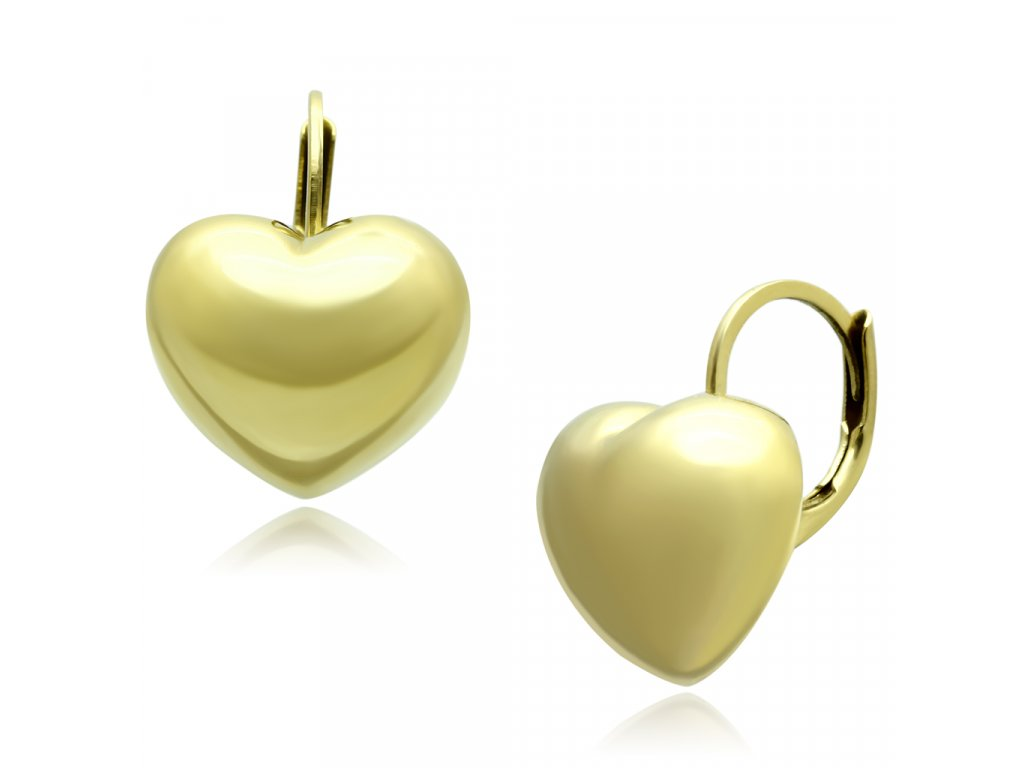 ocelove nausnice zlate ea1128