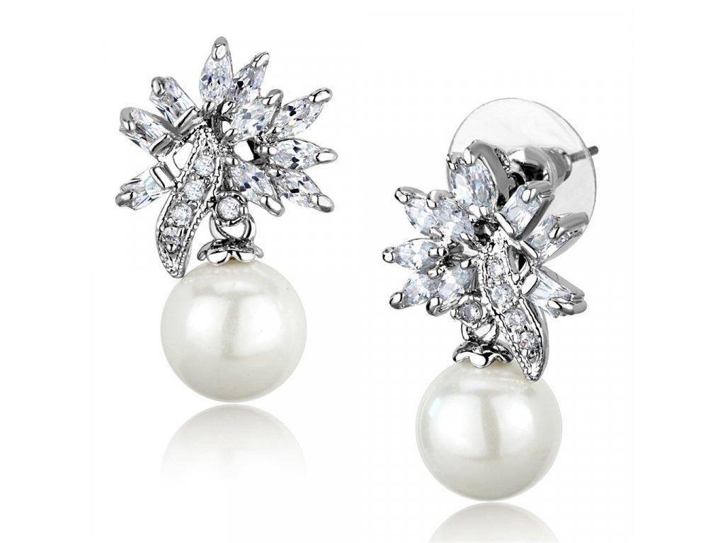 nausnice so zirkonom perlou ea888