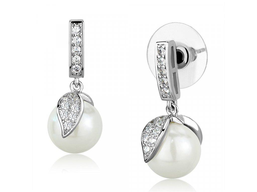 nausnice so zirkonom perlou ea895