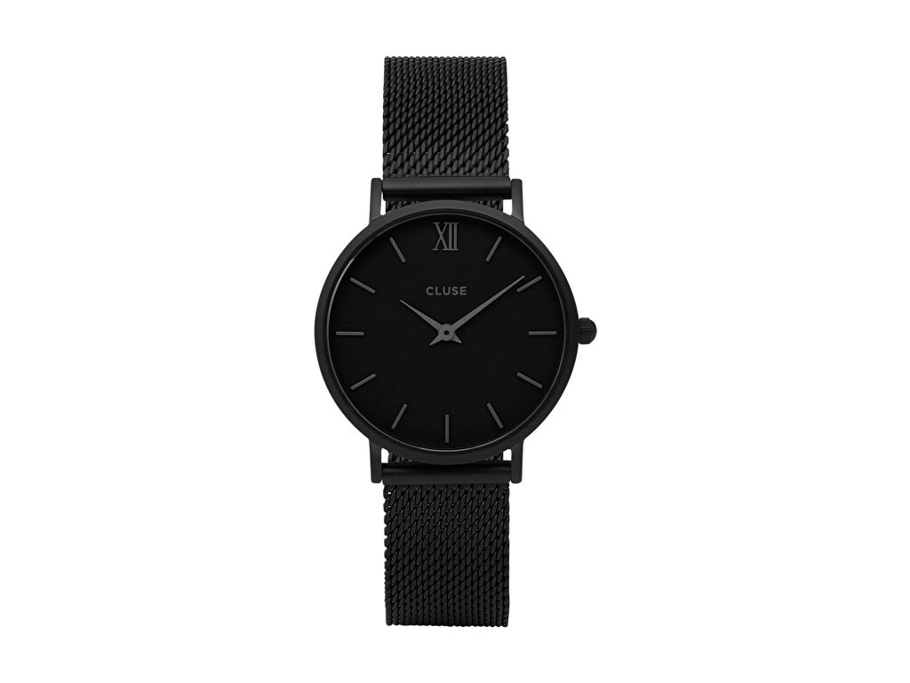 hodinky cluse minuit mesh full black cl30011