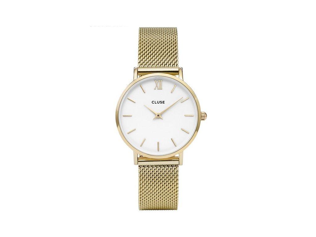 damske hodinky CL30010 Minuit Mesh Gold White