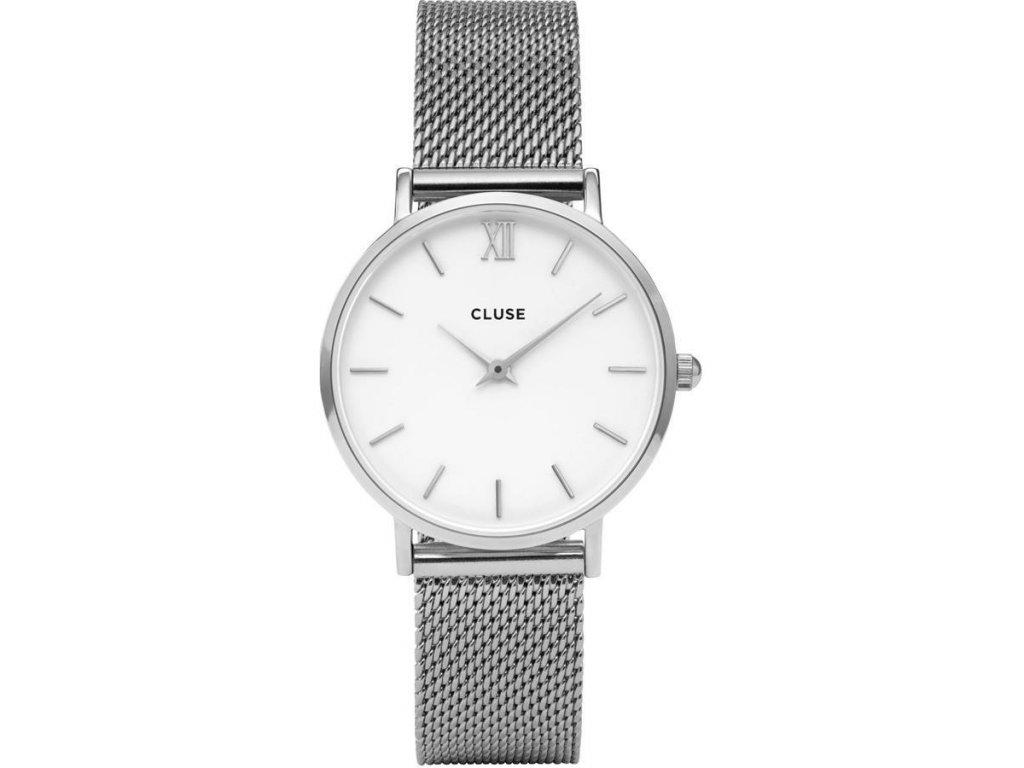 damske hodinky CL30009 minuit mesh silver