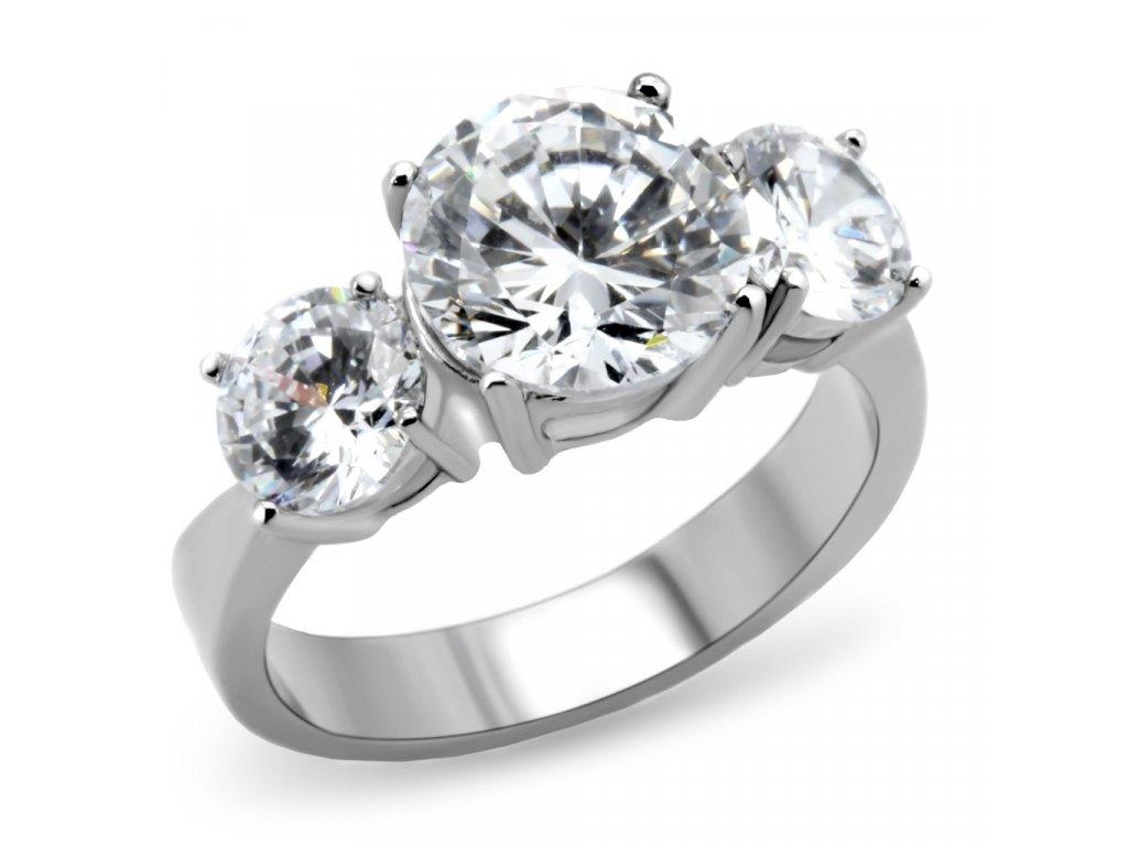 damsky ocelovy prsten so zirkonom sr168