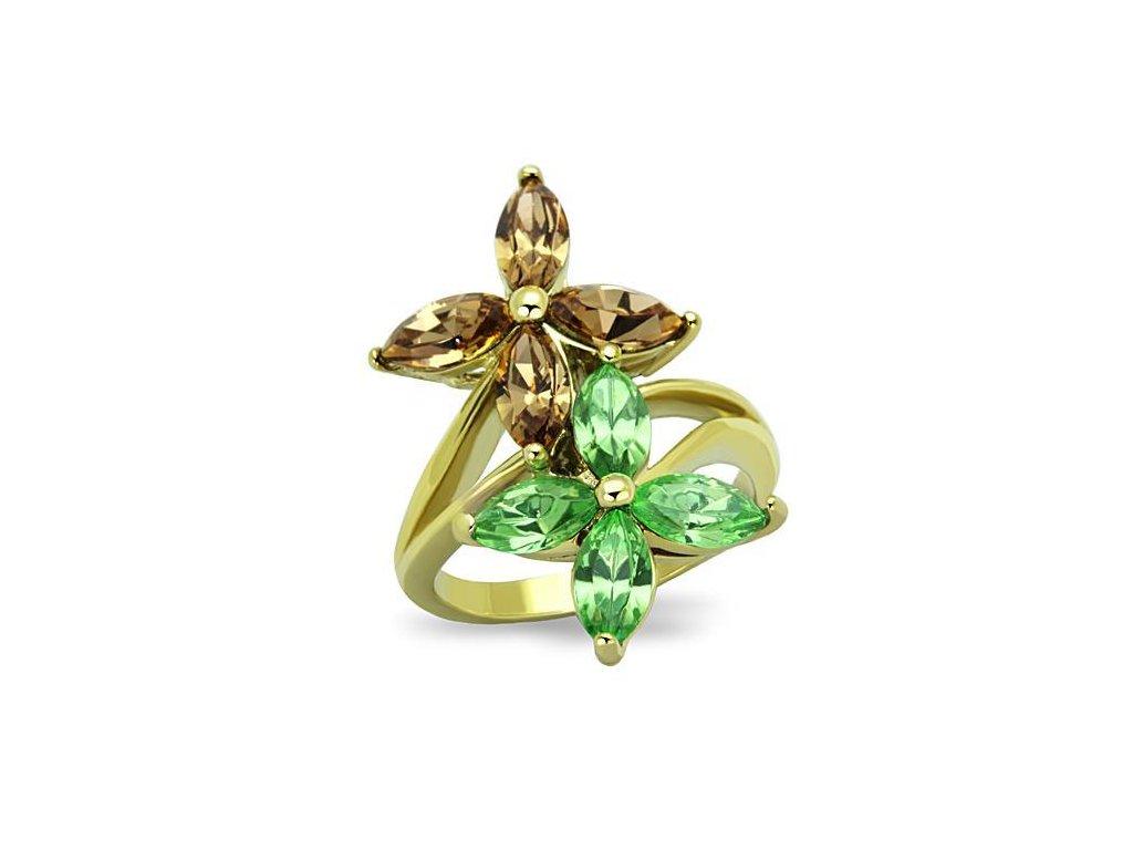 damsky ocelovy prsten zlaty sr1715