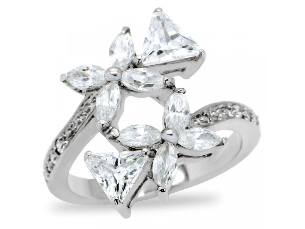 damsky ocelovy prsten so zirkonom sr196
