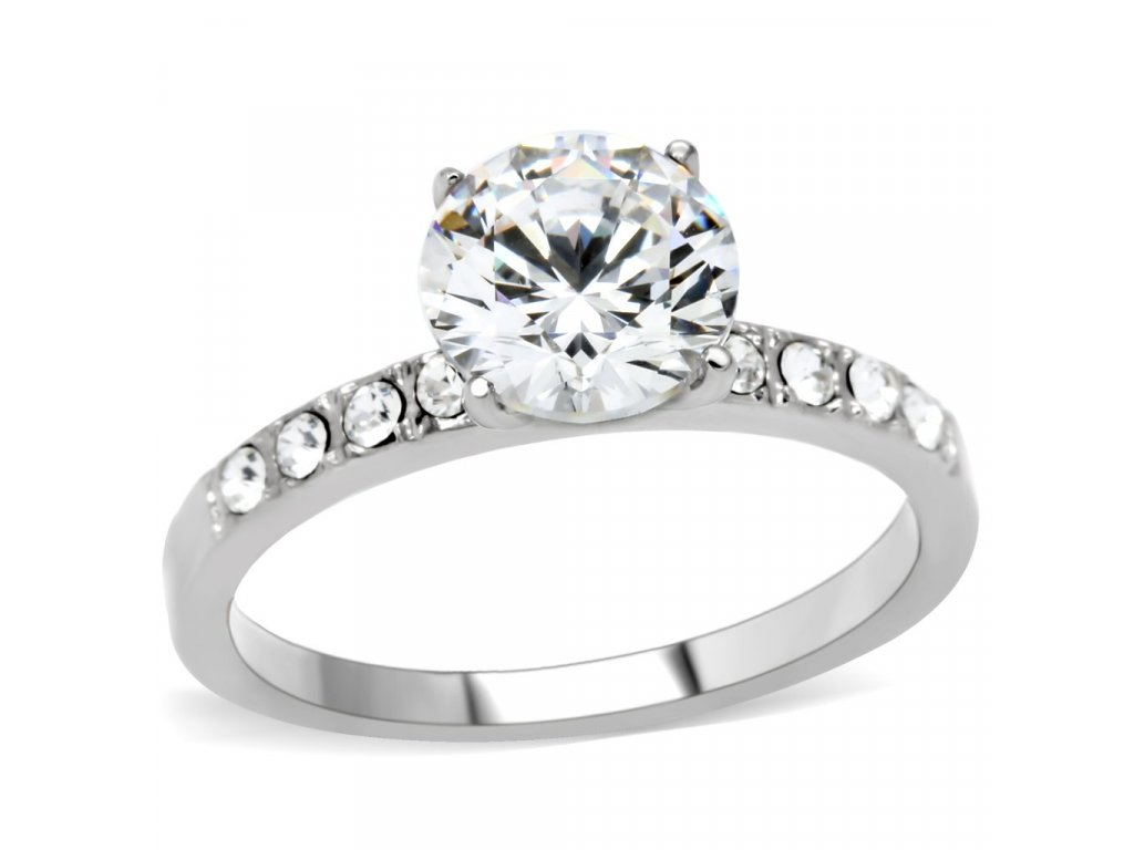damsky ocelovy prsten so zirkonom sr198