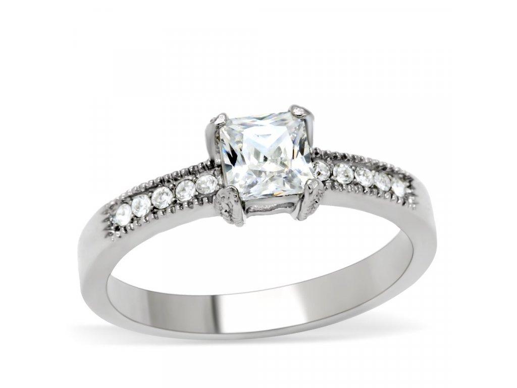 damsky ocelovy prsten so zirkonom sr199
