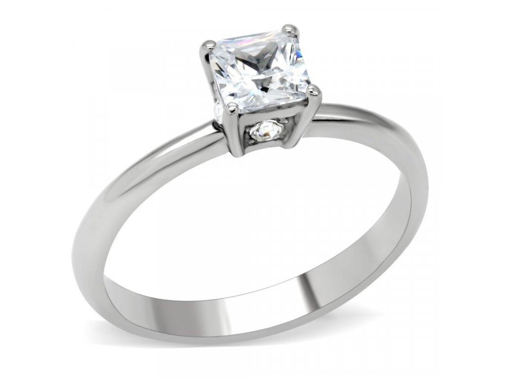 damsky ocelovy prsten so zirkonom sr202