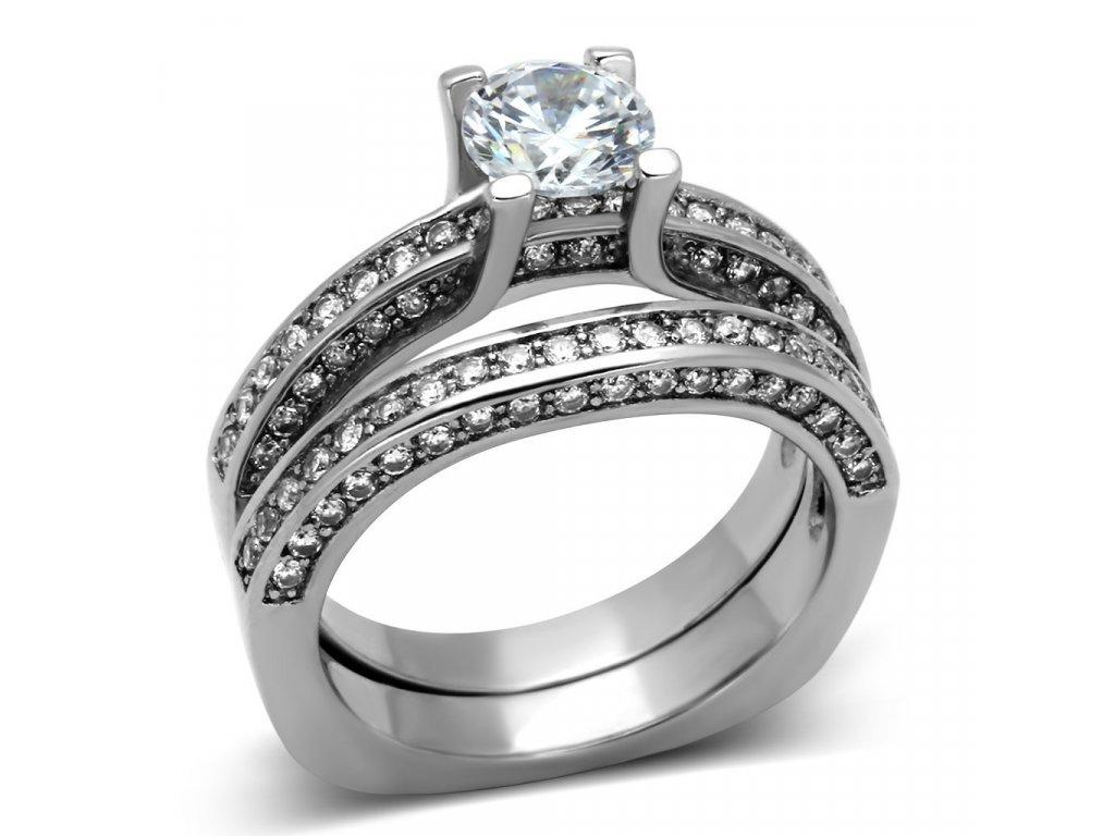 ocelovy prsten so zirkonom sr1175