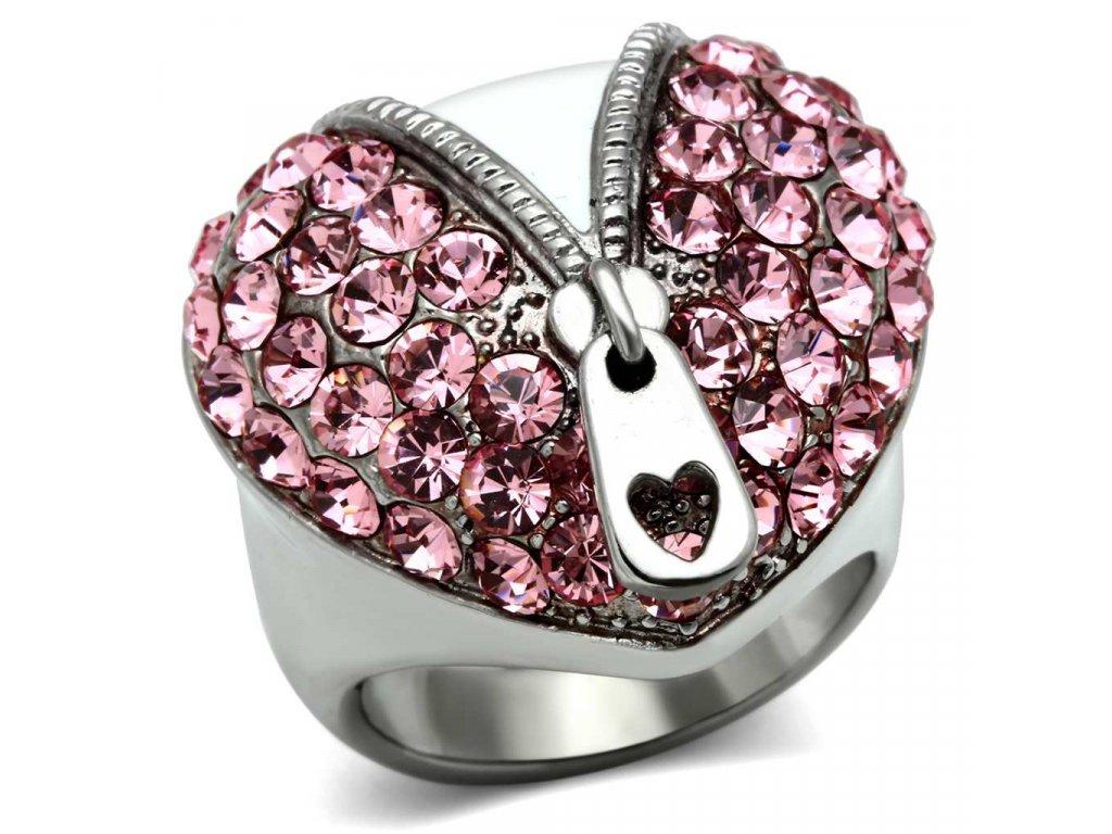 damsky ocelovy prsten s krystalmi sr0652