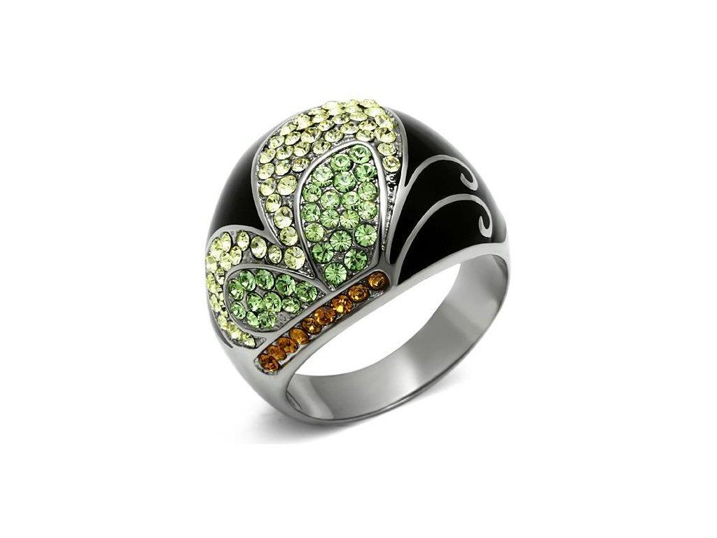 damsky ocelovy prsten s krystalmi sr0660