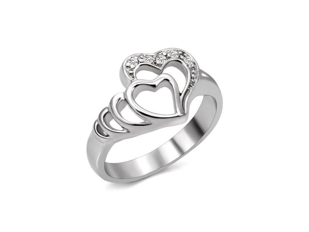 damsky ocelovy prsten s krystalmi sr6x179