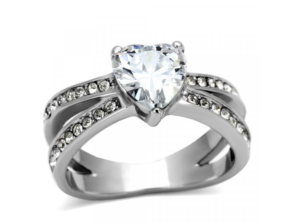 damsky ocelovy prsten so zirkonom sr0851