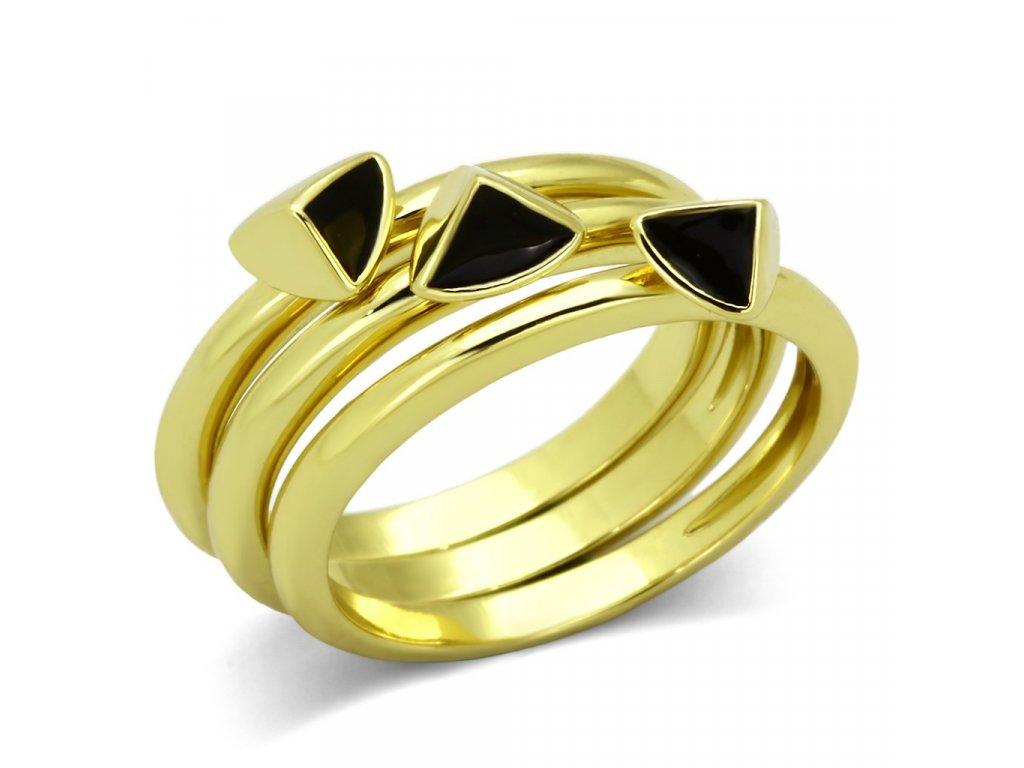 damsky ocelovy prsten zlaty sr0876