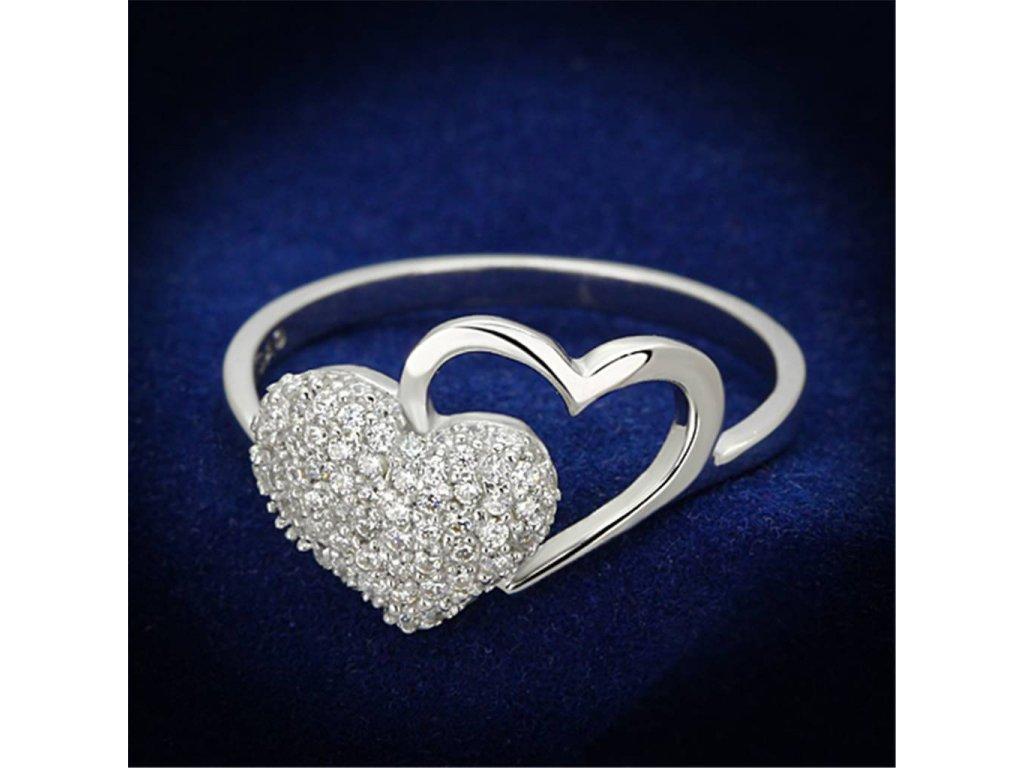 damsky strieborny prsten so zirkonmi ts130
