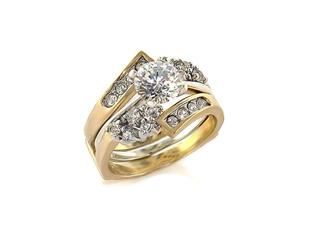 dvojdielny prsten so zirkonmi bs44707