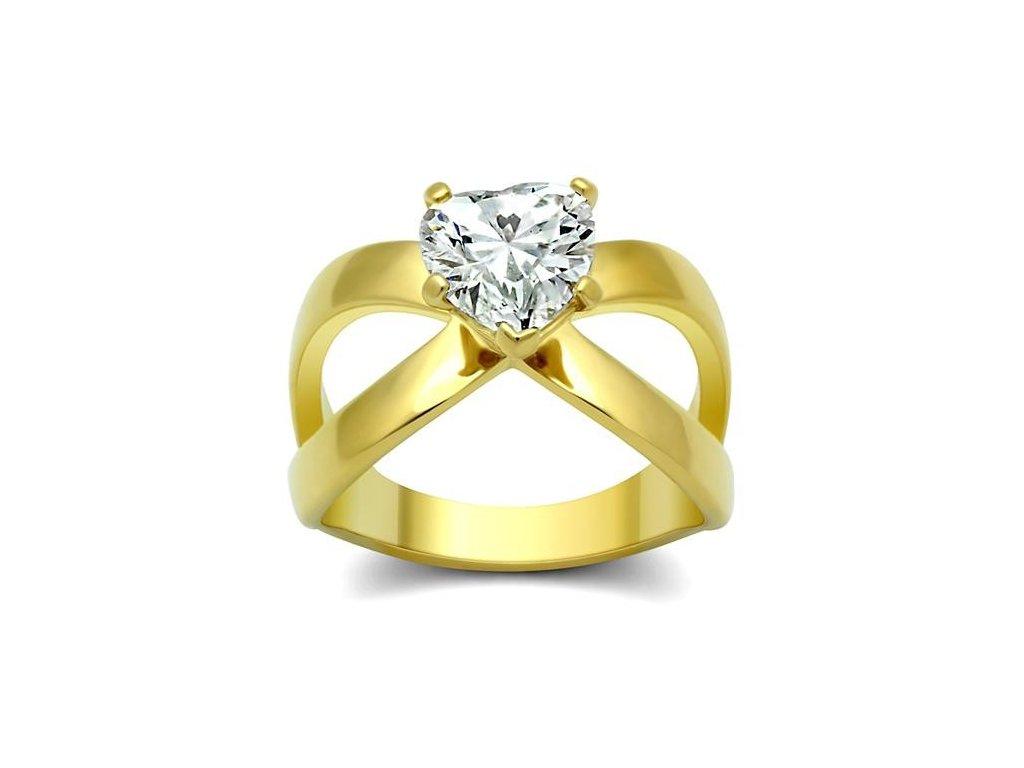 zlaty prsten so zirkonmi bs053
