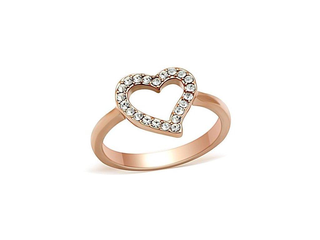 ruzovo zlaty prsten so zirkonmi bs112