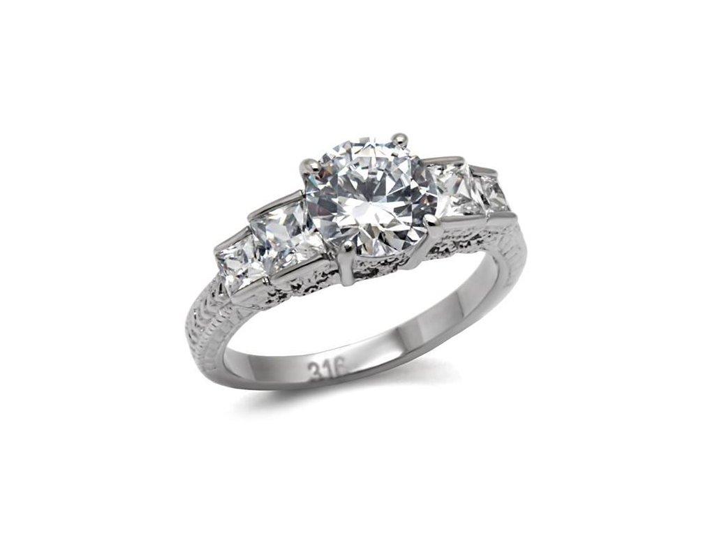 ocelovy prsten so zirkonmi sr0057