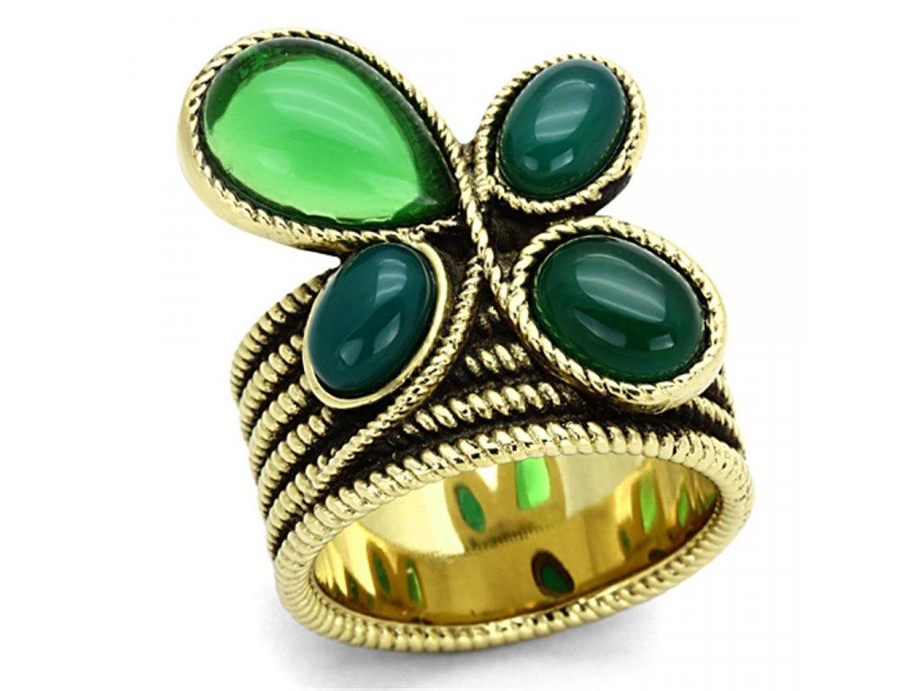 zlaty ocelovy prsten sr1104