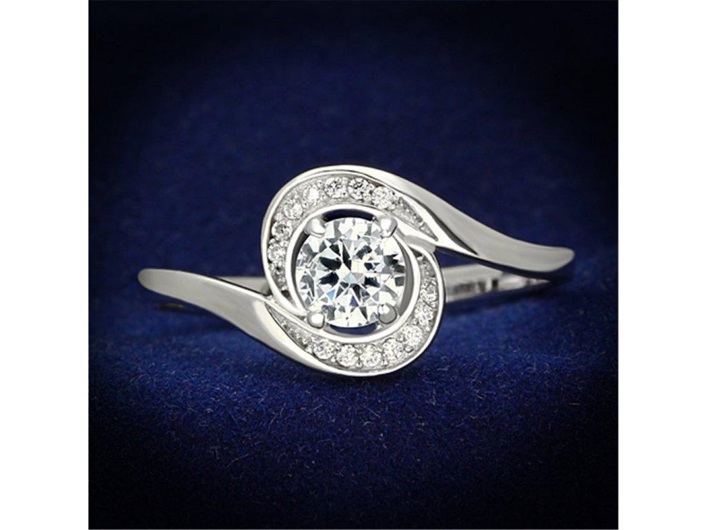 strieborny prsten so zirkonmi str116