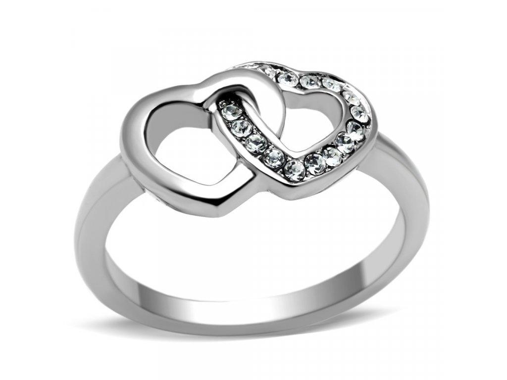 ocelovy prsten srdiecka sr0695