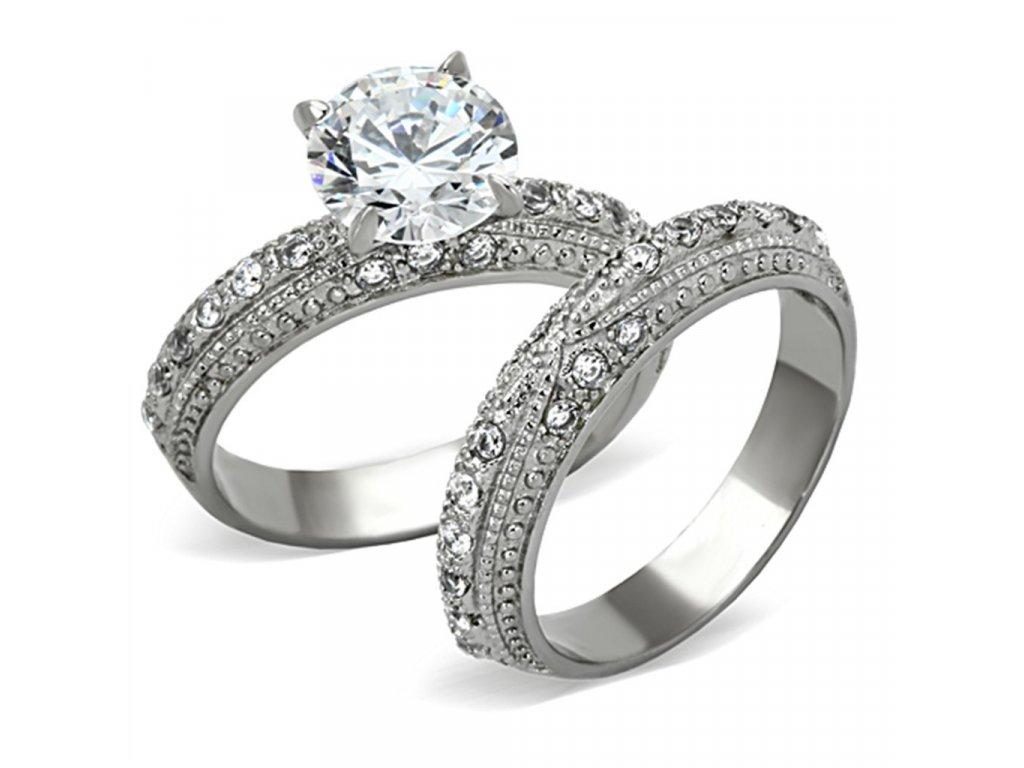 ocelovy prsten so zirkonom sr1228