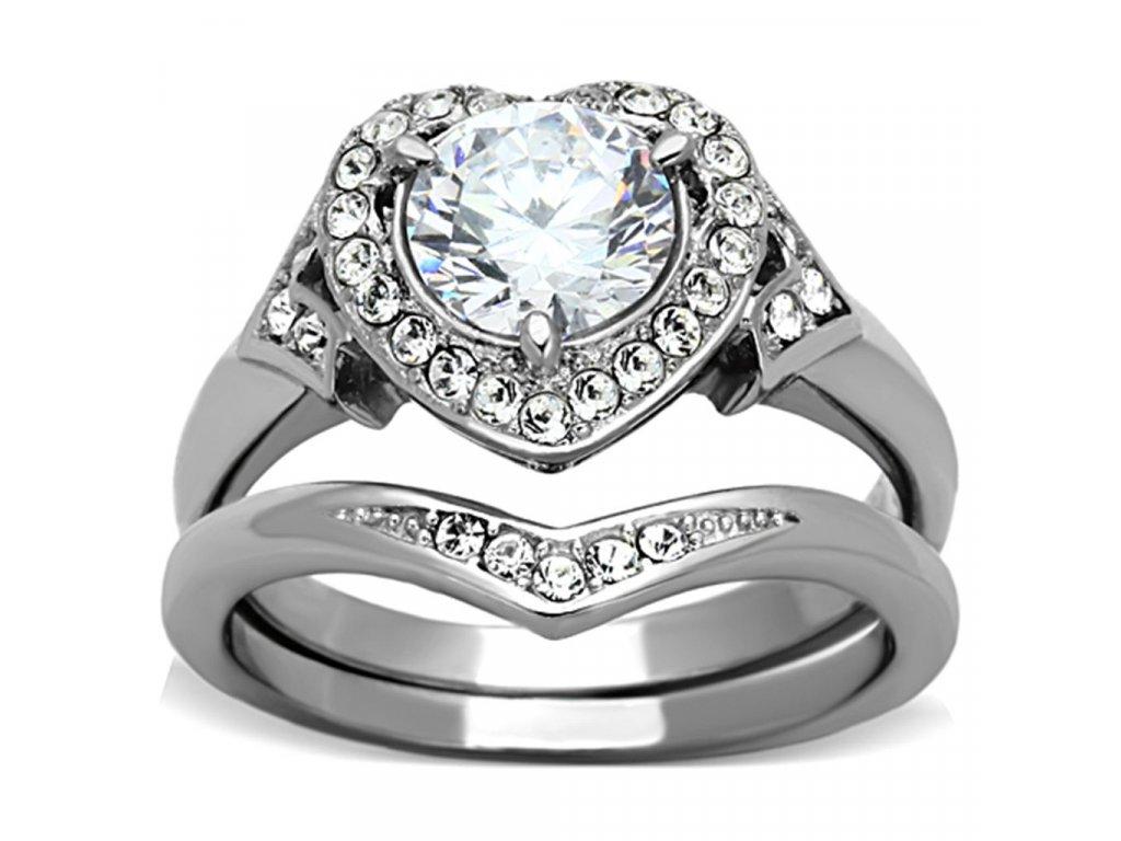 ocelovy prsten so zirkonom sr1087